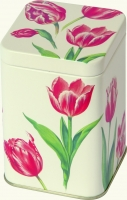 Teedose RED TULIPS cream