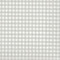 Servietten 33x33 cm - VICHY light grey