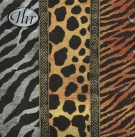 Lunch Servietten Animal print gold