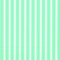 Servietten 33x33 cm - STRIPES AGAIN turquoise