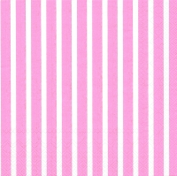 Servietten 33x33 cm - STRIPES AGAIN rose