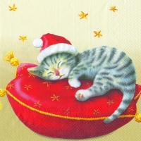 Lunch Servietten SANTA CAT cream