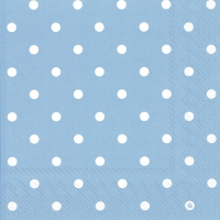 Lunch Servietten LITTLE DOTS light blue