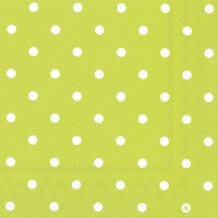 Servietten 33x33 cm - LITTLE DOTS lime