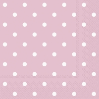 Servietten 33x33 cm - LITTLE DOTS rose