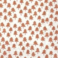 Lunch Servietten TWEE TREES cream copper