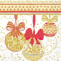 Lunch Servietten NAVIDAD DECORATIVA white red