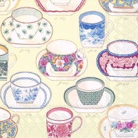 Lunch Servietten COLLECTION OF CUPS cream