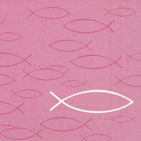Servietten 33x33 cm - PEACEFUL FISH pink