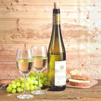 Servietten 33x33 cm - Taste of white wine