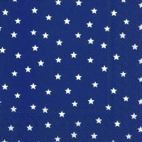Lunch Servietten LITTLE STARS dark blue