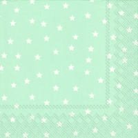 Lunch Servietten LITTLE STARS light blue