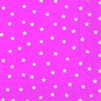 Lunch Servietten LITTLE STARS pink