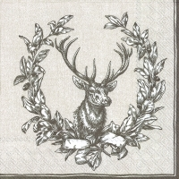 Servietten 33x33 cm - COUNTRY DEER linen