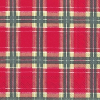 Lunch Servietten FLANNEL CHECK red