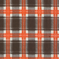 Lunch Servietten FLANNEL CHECK brown orange