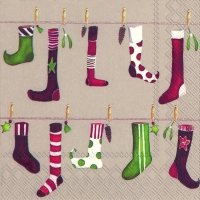 Lunch Servietten CRAZY CHRISTMAS STOCKING linen