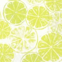 Servietten 33x33 cm - LEMON BAR lime