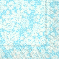 Servietten 33x33 cm - PRETTY LACE light blue