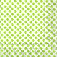 Lunch Servietten CUTE PATTERN white green