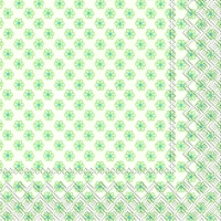 Lunch Servietten CUTE PATTERN white light green