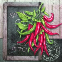 Servietten 33x33 cm - FRESH CHILI