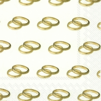 Servietten 33x33 cm - RINGS gold