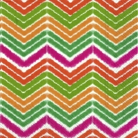 Servietten 33x33 cm - IKAT STRIPE red green