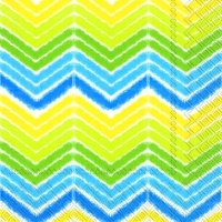 Lunch Servietten IKAT STRIPE blue yellow