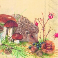 Servietten 33x33 cm - NOSY LITTLE HEDGEHOG