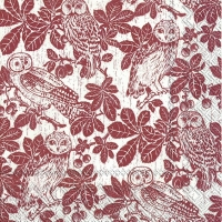 Lunch Servietten OWLS AND BRANCHES light brown