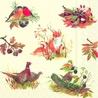 Servietten 33x33 cm - AUTUMN WILDLIFE
