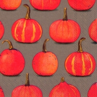 Servietten 33x33 cm - PUMPKIN PARTY brown
