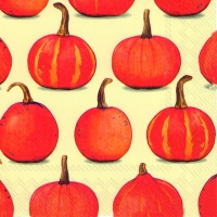 Servietten 33x33 cm - PUMPKIN PARTY cream
