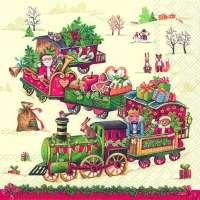 Servietten 33x33 cm - CHRISTMAS TRAIN