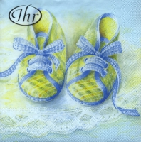 Lunch Servietten Baby Shoes blue