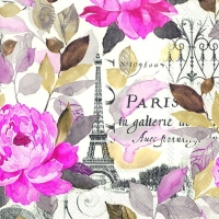 Lunch Servietten JARDIN PARIS pink