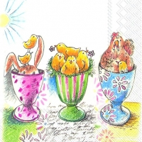 Lunch Servietten EASTER EGGCUPS