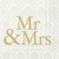 Servietten 33x33 cm - MR & MRS Gold