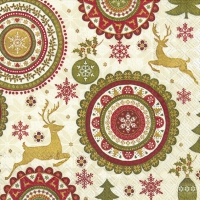 Lunch Servietten CHRISTMAS ORNAMENTS cream