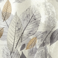Servietten 33x33 cm - FANCY FALL grau