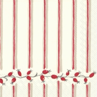 Lunch Servietten BERRY STRIPE red
