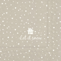 Lunch Servietten LET IT SNOW linen
