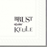Lunch Servietten BRUST ODER KEULE grey
