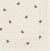 Servietten 33x33 cm - LITTLE LADYBIRDS linen