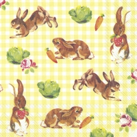 Lunch Servietten LITTLE BUNNIES yellow