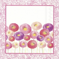 Servietten 33x33 cm - PRETTY BELLIS rosa