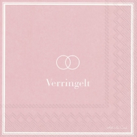 Servietten 33x33 cm - VERRINGELT light rose