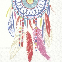 Lunch Servietten DREAMCATCHER white