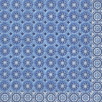 Servietten 33x33 cm - MARRAKESCH blue